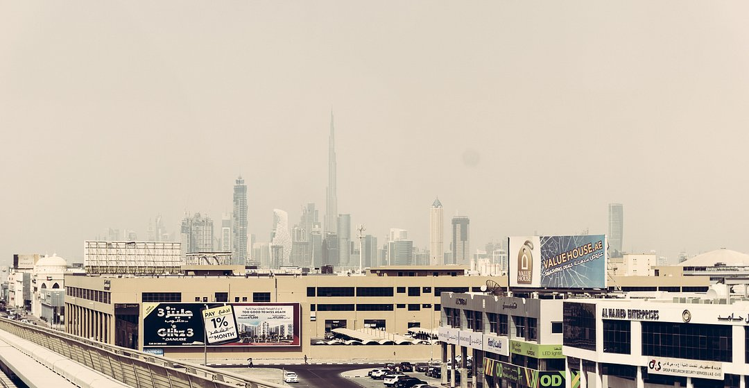 View on Dubai from the Metro