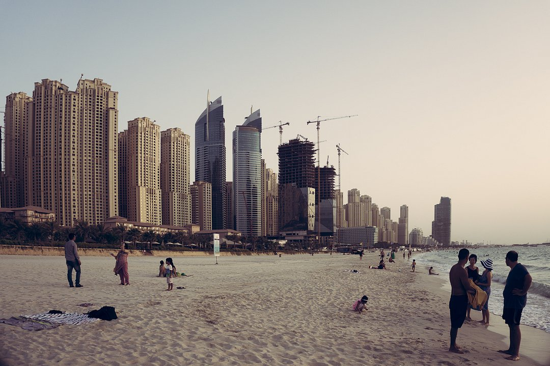 Beach close to Dubai Marina