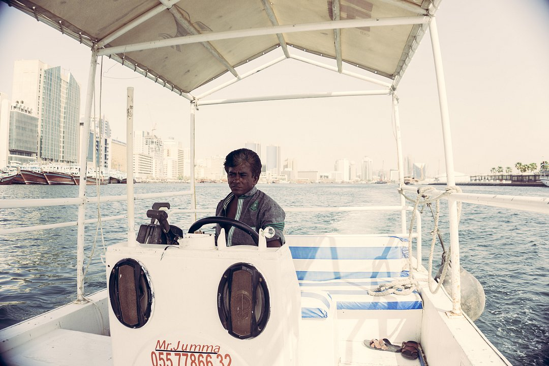 Boat Captain on Dubai Creek