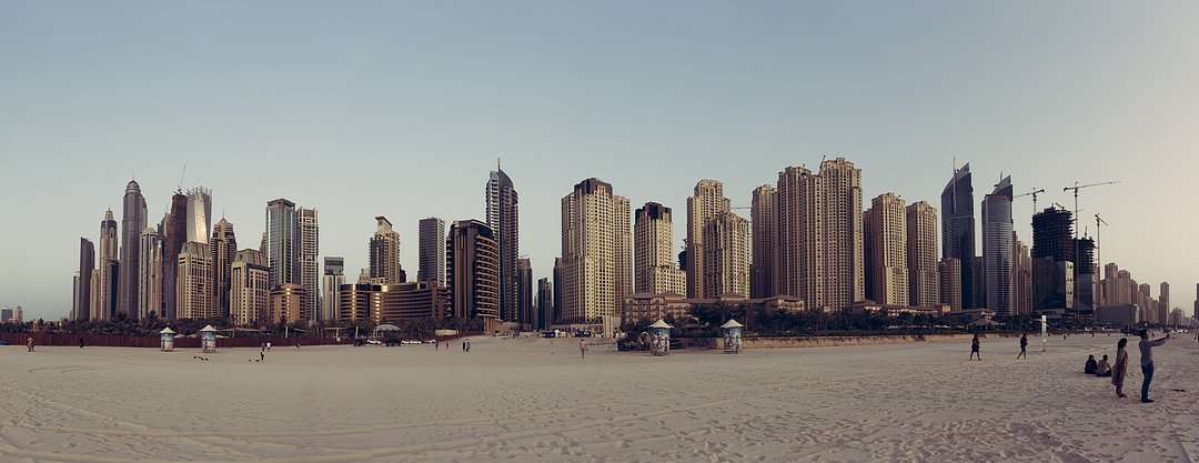 View from the Beach onto Dubai Marina