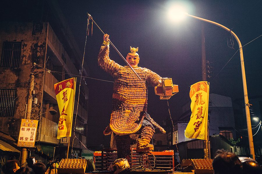 Yanhsui Fireworks Festival  - God of War made out of Fire Crackers